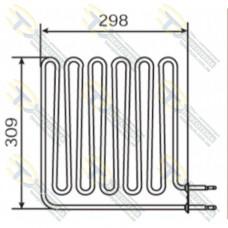 ТЭН 3,0 кВт для сауны Harvia изогнутый 90* (6 волн) Кварц ZSВ-229
