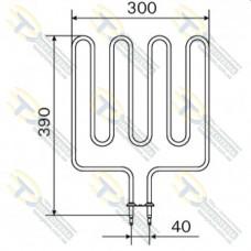 ТЭН 2,0 кВт для сауны Harvia (4 волны) Кварц ZSK-700 (ZSL-313)