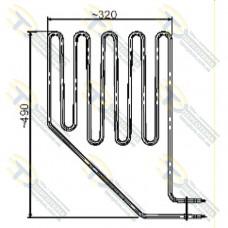 ТЭН SEPC 10 (2500 Вт) для сауны (электрокаменки) SKLA/MAGMA 260 Кварц