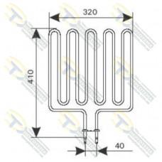 ТЭН 3,0 кВт для сауны Harvia (5 волн) Кварц ZSK-720 (ZSL-318)