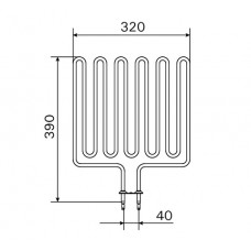 ТЭН 1,5 кВт для сауны Harvia (6 волн) Кварц ZSL-314