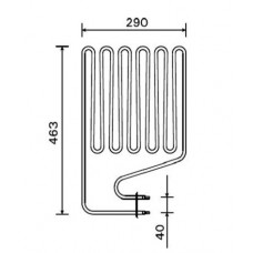 ТЭН 3,0 кВт для сауны Harvia (6 волн) изогнутый Кварц ZSР-255